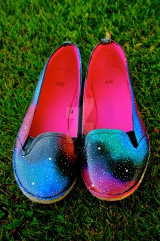 FOR SALE - Size 8 Galaxy Flats by hipstergalaxyswag