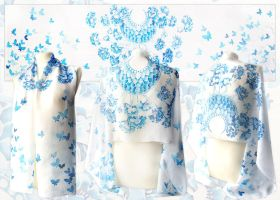 Wedding Silk Scarf - for sale by MinkuLul