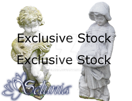 Exclusive Stock :: Boy + Girl Statues by Selunia