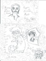 One Piece sketches for Matt by Kittychan2005