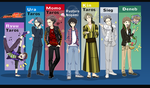 KR Den O - Characters by BiPinkBunny