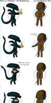 Alien vs Predator - Beginning by Vampress888