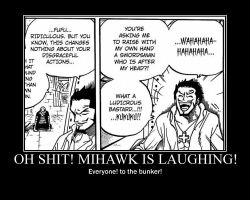 Mihawk demotivational poster by joseph918273