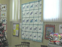 True Blue Quilt on Display by carouselfan