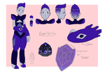 Benitoite Ref Sheet by SkyBlueSapphire