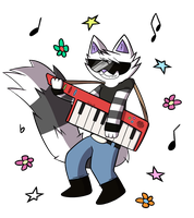 Rock on Keyboard Cat, Rock on... by Echo-80