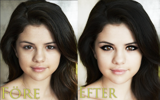 Selena Gomez before and after by Cicciz
