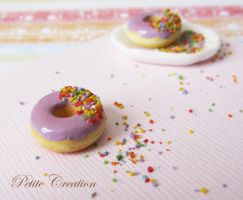 purple donut by PetiteCreation