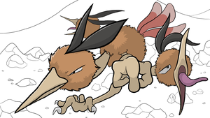 Dynamic Dodrio by brackenhawk
