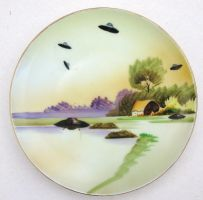 They're Here UFO Landing Plate by BeatUpCreations