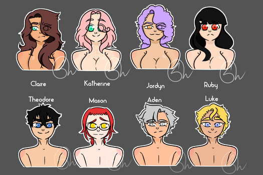 Hero's Of The Lost Main Characters by ZerefUnderWood82