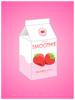 Fruit Smoothie: Strawberry by Kezzi-Rose
