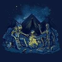 Egyptian Camping by Letter-Q-Artwork