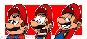 Random Cartoonly Mario's Faces by RatchetMario