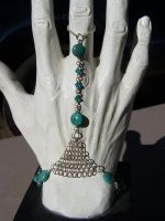 Turquoise Handflower by Bright-Circle