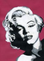 Marilyn Monroe in Pink by JKae47