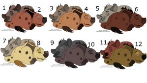 Free hyena adopts by knowitall123-adopts