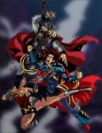Thor and Wonder Woman vs PRIME by theRedDeath888