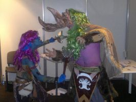 Shaman vs Storm rage cosplay by TheW0lfen