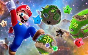 Mario Galaxy Jump Wallpaper by DJcube