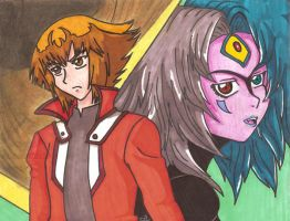 YGO-GX: Judai and Yubel by sw33t-hobbit