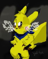 Pikachu for battle by Plaid-pichu