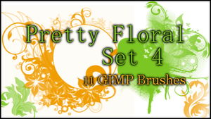 GIMP Pretty Floral Set4 by Illyera