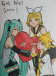 Comm: Vocaloid Get Well Card by LadyNin-Chan
