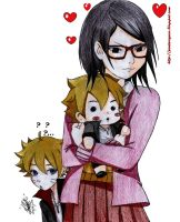 naruto THE LAST -Boruto y Sarada 00 by shinamvec