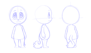 Char Char Ref (stylized) WIP by FreckledAndSpeckled