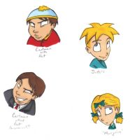 South Park boys again by thedarklordkeisha