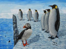 Gangs of Antarctica by Abuttonpress2Nothing