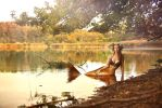 Fall's golden colours : the mermaid by gestiefeltekatze