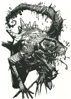Spider-Man into Lizard Cover Art by Stonegate