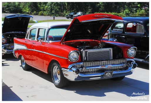 A Red 1957 Chevy by TheMan268