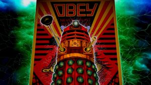 The Red Dalek Poster Boy by LEMIKEN
