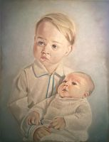 portrait of Prince George and Princess Charlotte by kymmathias