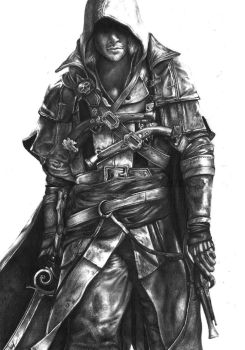 PENCIL DRAWING : Assassins Creed 4 Black Flag by Keshavsart