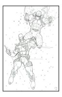 X Force's Deadpool and Fantomex by sunny615