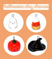 Halloween Clay Charms by Toasts