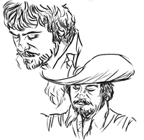 athos/ollie studies by AerinTook