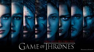 Game Of Thrones Faces blue by BeAware8