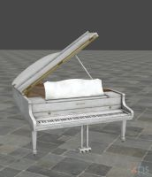 Grand Piano xps mmd by Tokami-Fuko