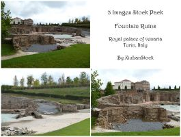 Fountain Ruins Stock Pack by XiuLanStock