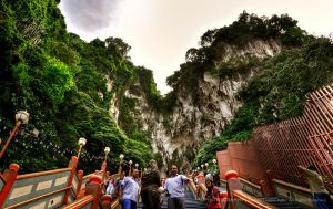 Batu Caves - Stairs to Heaven by reubenteo