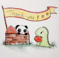 Dino and Panda Thank You 010 by MelodicInterval