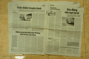 Vietnam newspapers-28 by Vnstockphoto