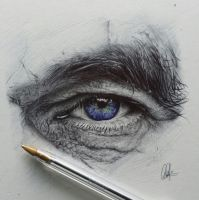 Commission Ballpoint Eye by ChrisHerreraArt