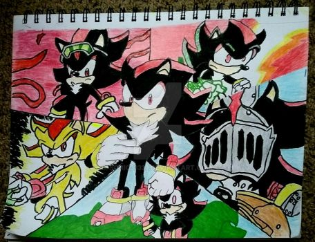 (COTM) Shadow the Hedgehog portrait by Sonic33333