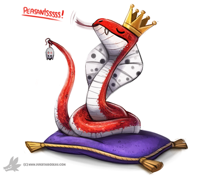 Daily Paint #995. King Cobra (OA) by Cryptid-Creations